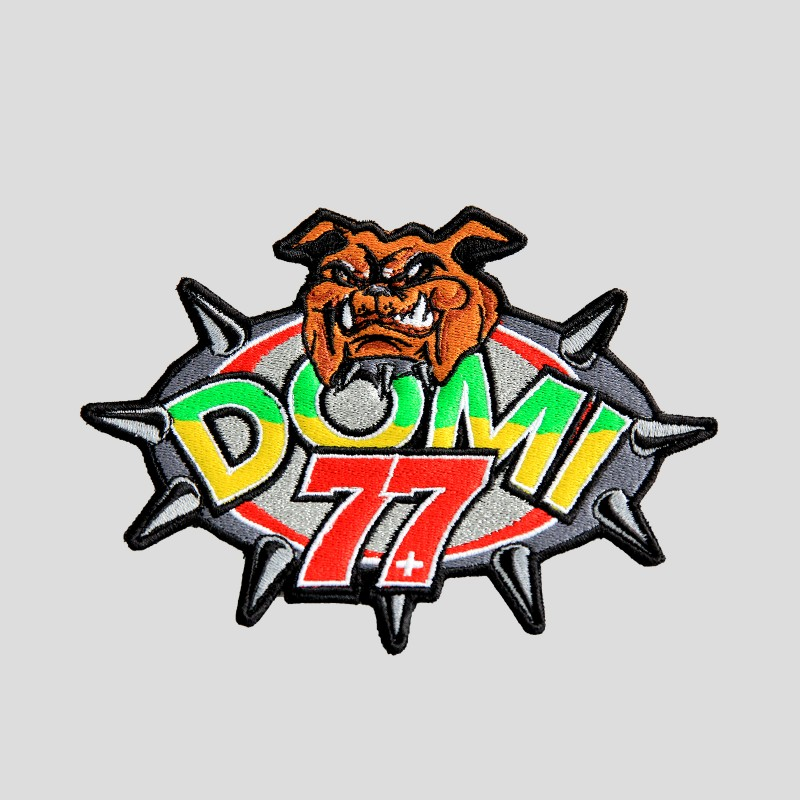 Domi-Fighter fabric-sticker