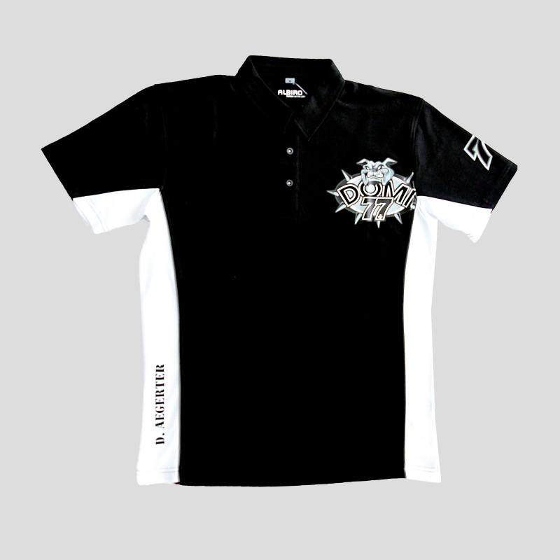 Herren Poloshirt Black & White