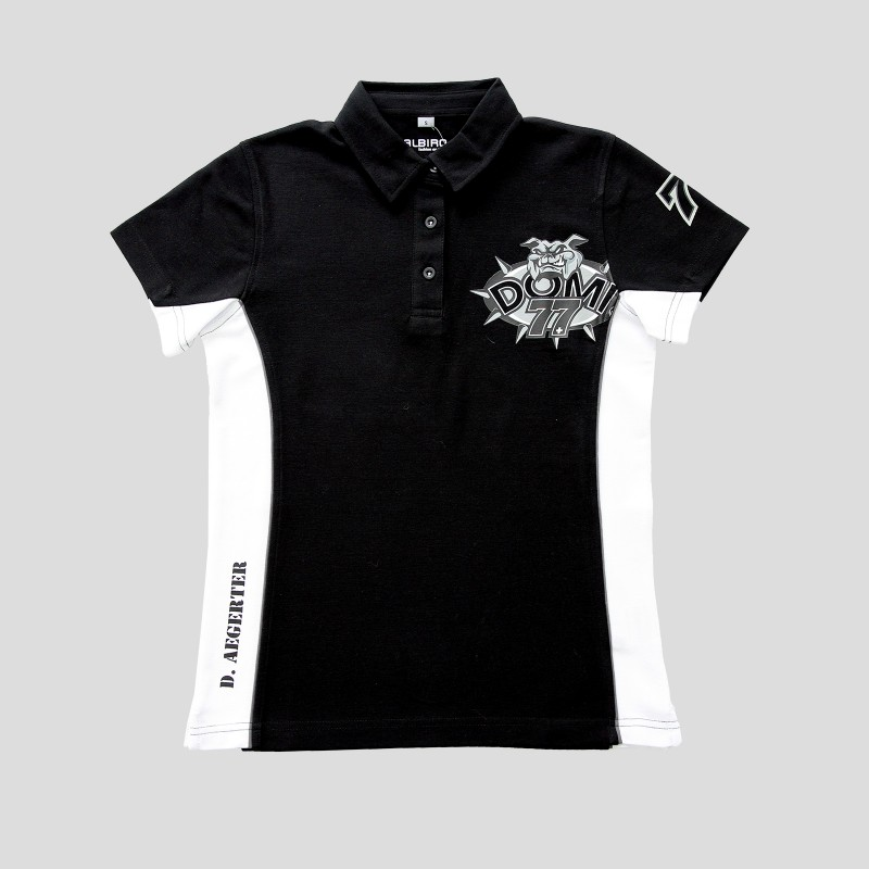 Ladies Poloshirt Black & White